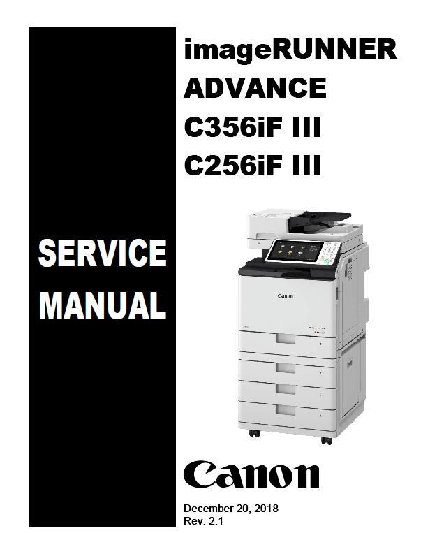 Canon imageRUNNNER ADVANCE C256iF III/C356iF III Service Manual