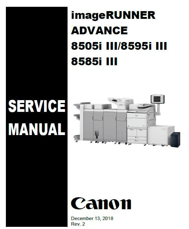 Canon imageRUNNER ADVANCE 8505i III/8585i III/8595i III Service Manual