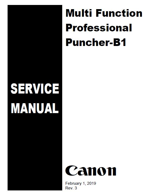Canon Multi Function Professional Puncher-B1 Service Manual