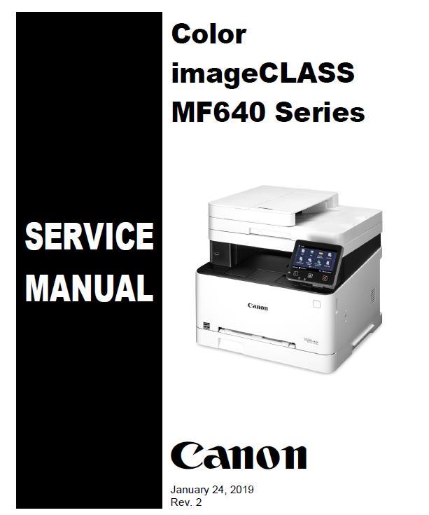 Canon Color imageCLASS MF640 Series Service Manual