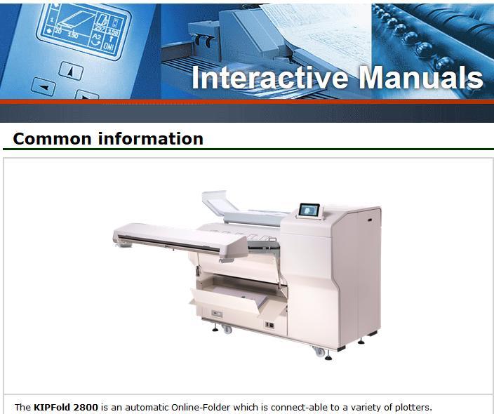 KIP Fold 2800 Service Manual