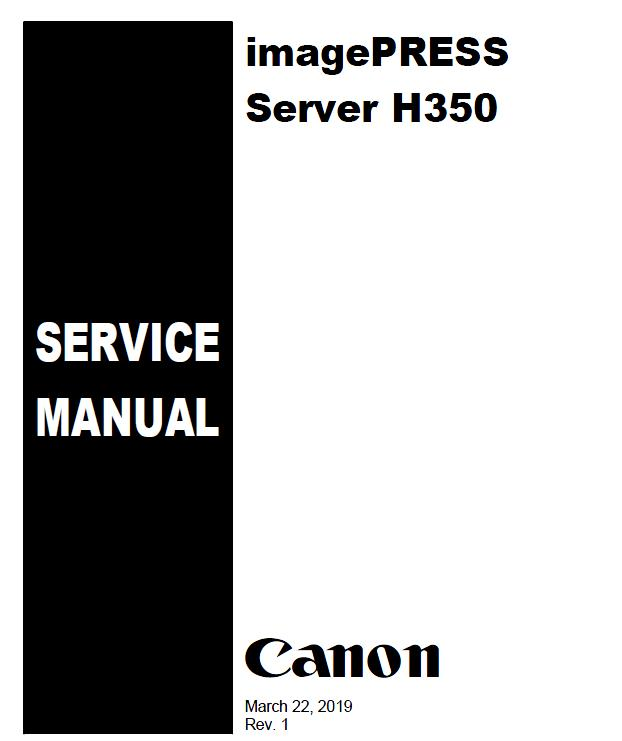 Canon imagePRESS Server H350 Service Manual