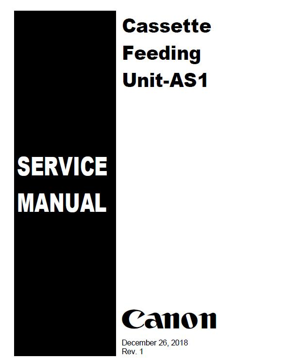 Canon Cassette Feeding Unit-AS1 Service Manual