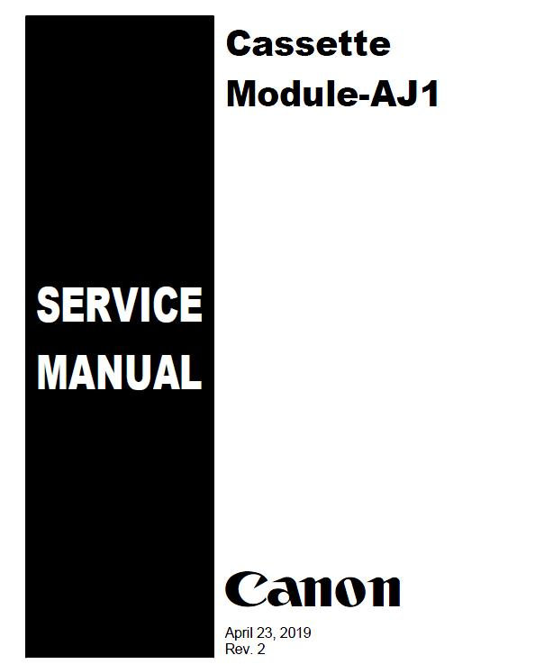 Canon Cassette Module-AJ1 Service Manual