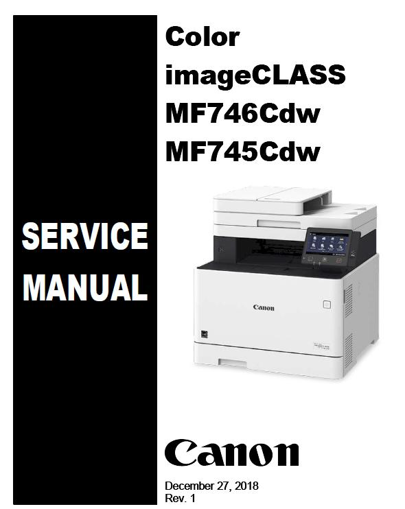 Canon Color imageCLASS MF745Cdw/MF746Cdw Service Manual
