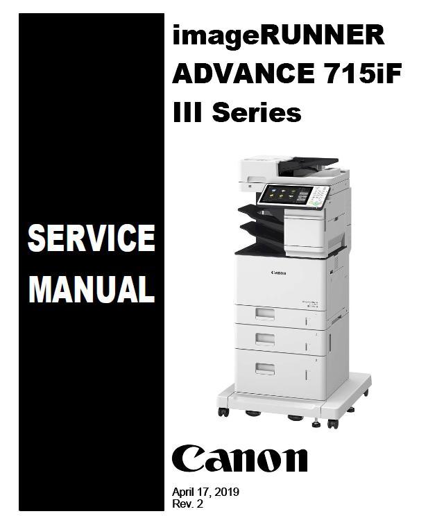 Canon imageRUNNER ADVANCE 525iF III/615iF III/715iF III Series Service Manual