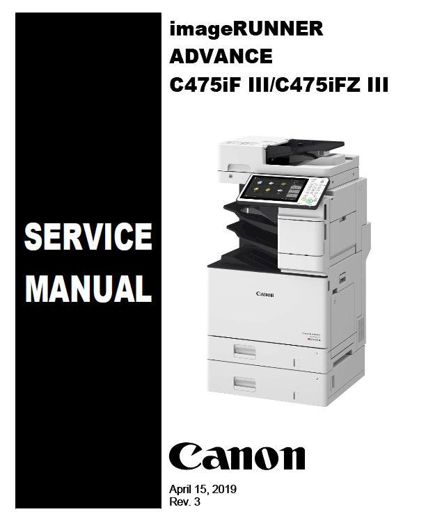 Canon imageRUNNER ADVANCE C475JF III/C475JFZ III Service Manual