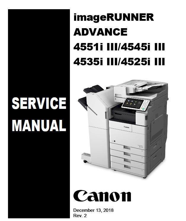 Canon imageRUNNER ADVANCE 4525i III/4535i III/4545i III/4551i III Service Manual