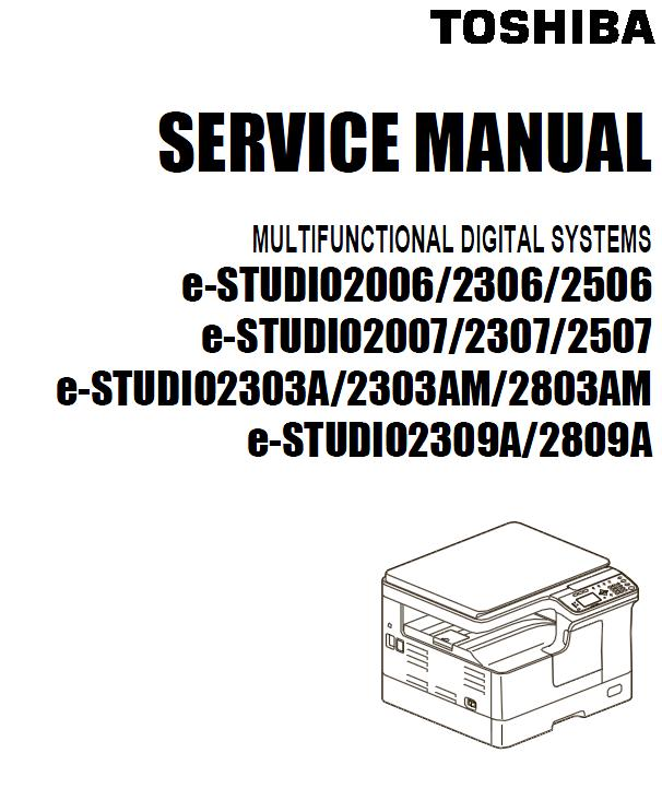Toshiba e-STUDIO 2303A/2303AM/2803AM/2309A/2809A Service Manual