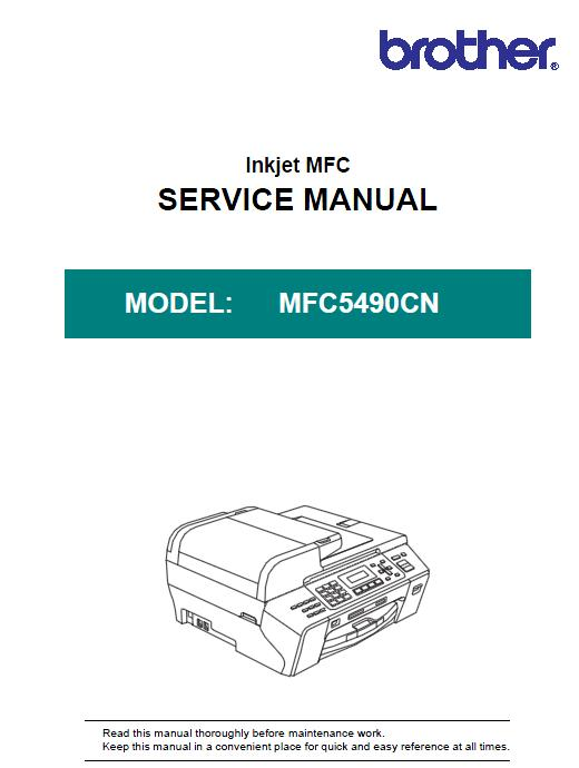 Brother MFC5490 Service Manual