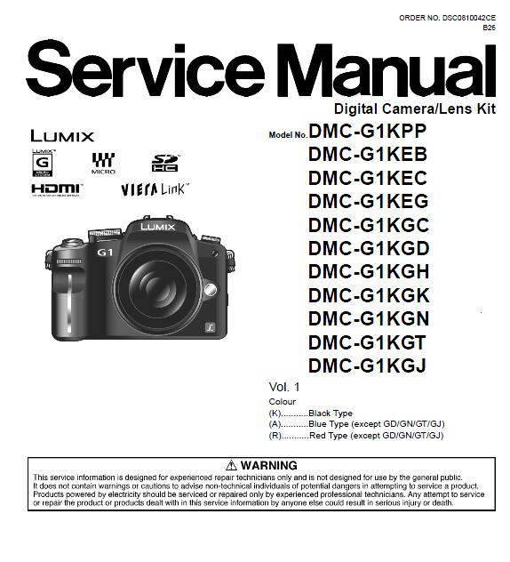 Panasonic DMC-G1 Service Manual