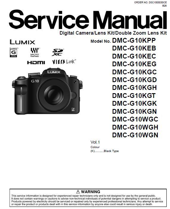 Panasonic DMC-G10 Service Manual