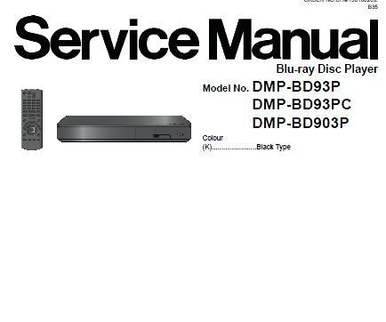 Panasonic DMP-BD93P/DMP-BD93PC/DMP-BD94PC/DMP-BD903P Service Manual