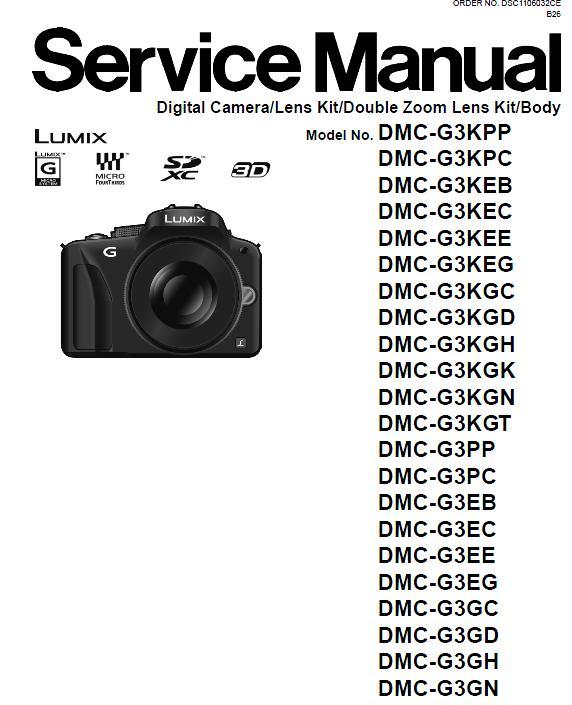 Panasonic DMC-G3 Service Manual