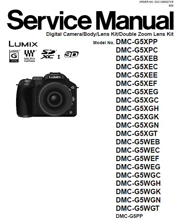 Panasonic DMC-G5 Service Manual