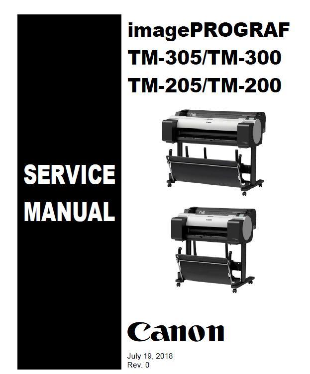 Canon imagePROGRAF TM-200/TM-205/TM-300/TM-305 Service Manual
