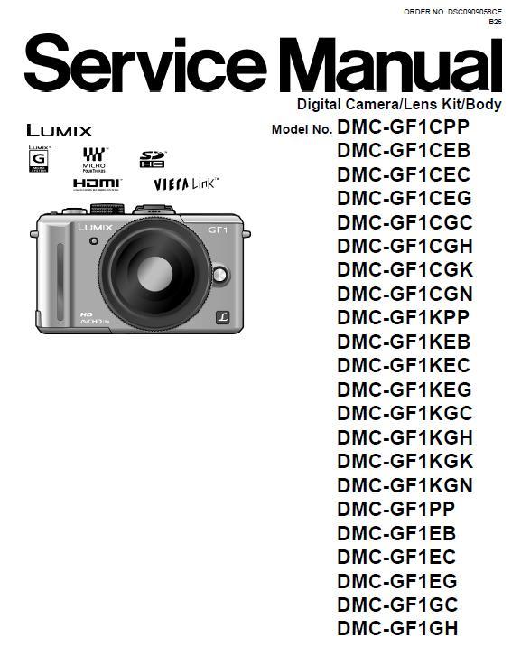 Panasonic DMC-GF1 Service Manual