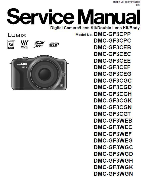 Panasonic DMC-GF3 Service Manual
