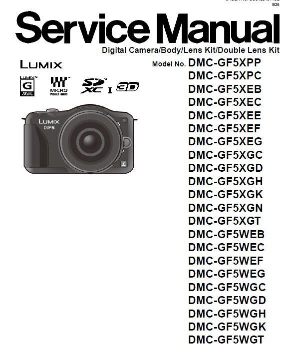 Panasonic DMC-GF5 Service Manual