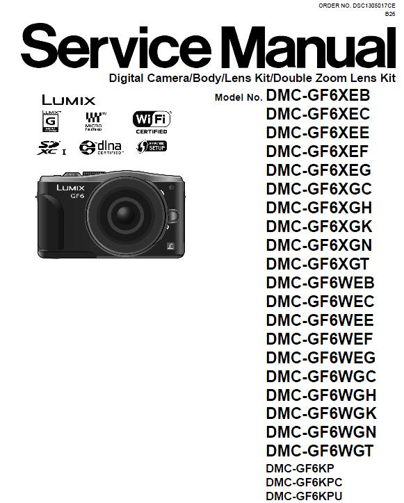 Panasonic DMC-GF6 Service Manual