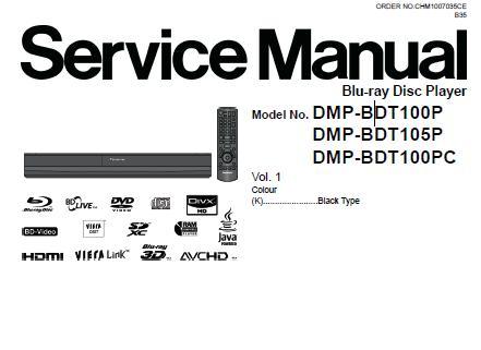 Panasonic DMP-BDT100P/DMP-BDT100PC/DMP-BDT105P Service Manual