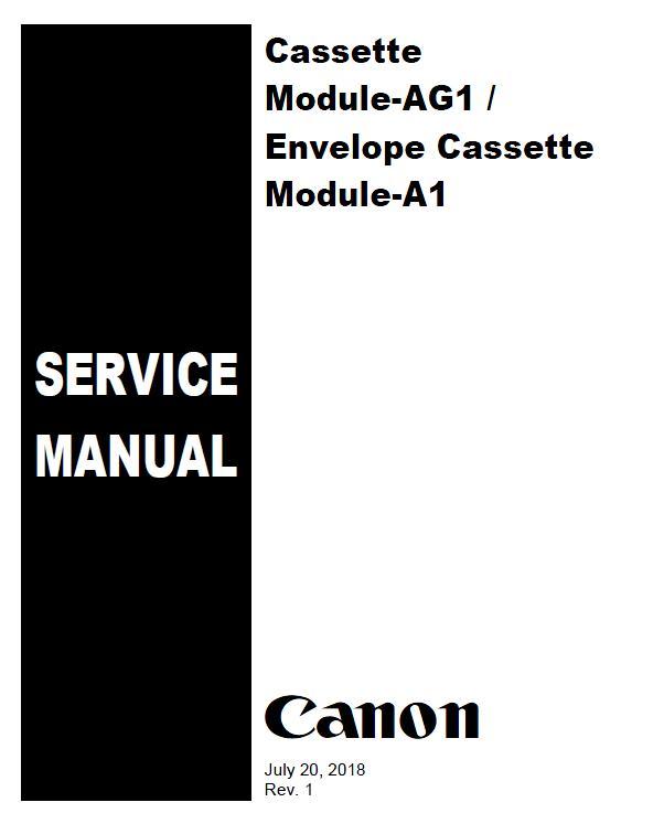 Canon Cassette Module-AG1/Envelope Cassette Module-A1 Service Manual