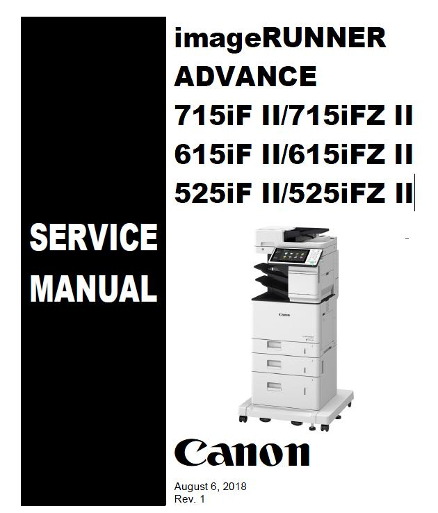 Canon imageRUNNER ADVANCE 715iF II/715iFZ II 615iF II/615iFZ II 525iF II/525iFZ IIi Service Manual