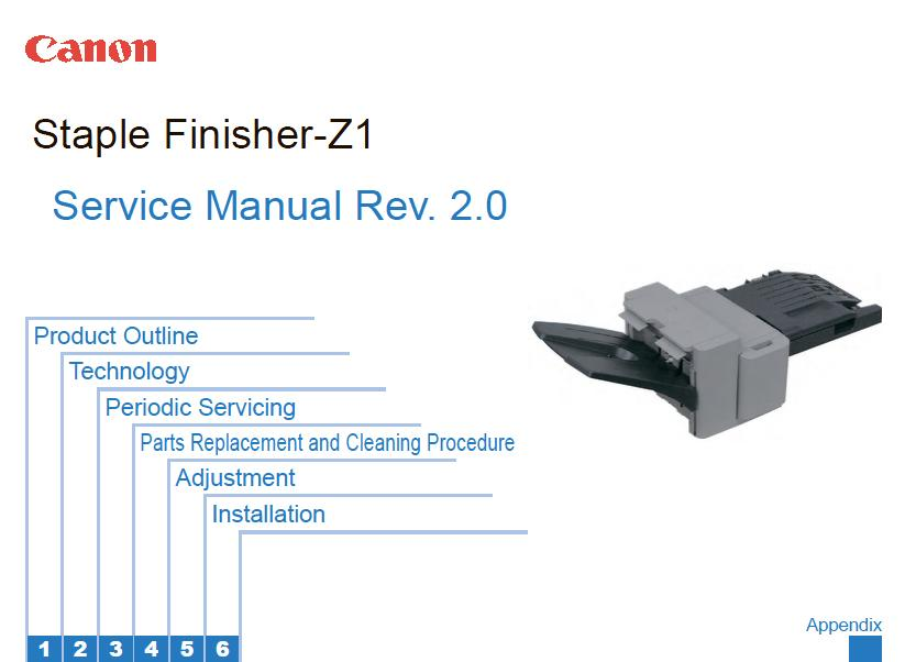 Canon Staple-Finisher-Z1 Service Manual