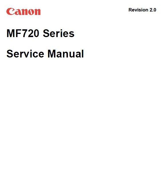 Canon MF722Cdw/MF724Cdw/MF725Cdn/MF726Cdw/MF727Cdw/MF728Cdw Service Manual