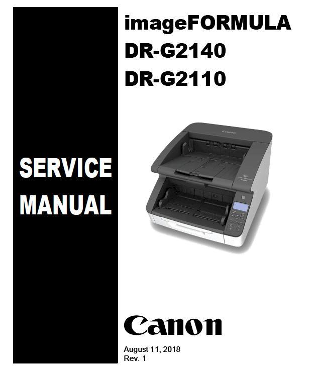Canon imageFORMULA DR-G2110/DR-G2140 Service Manual