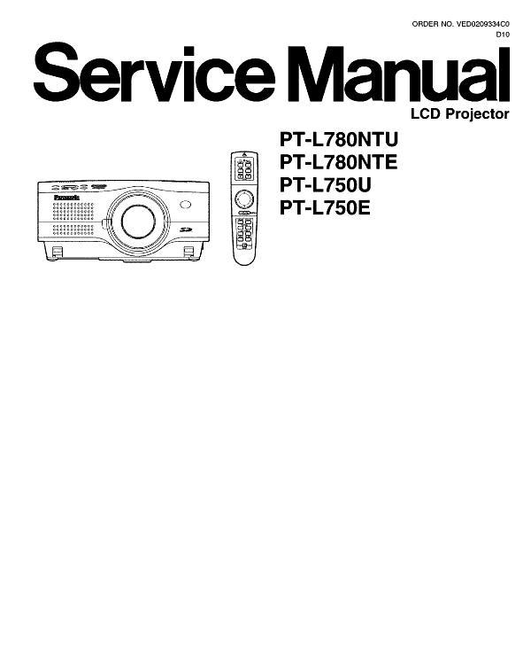 Panasonic PT-L750/PT-L780U/E Service Manual