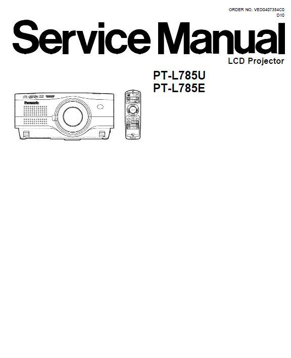 Panasonic PT-L785U/E Service Manual