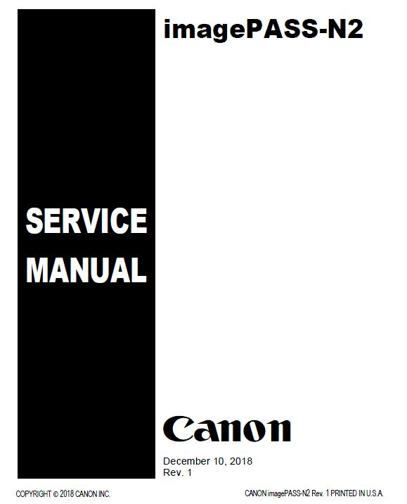 Canon imagePASS-N2 Service Manual