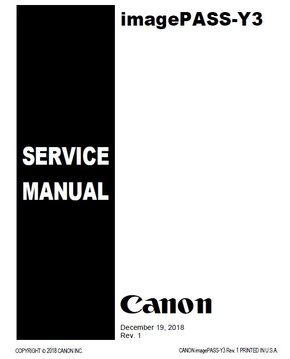 Canon imagePASS-Y3 Service Manual