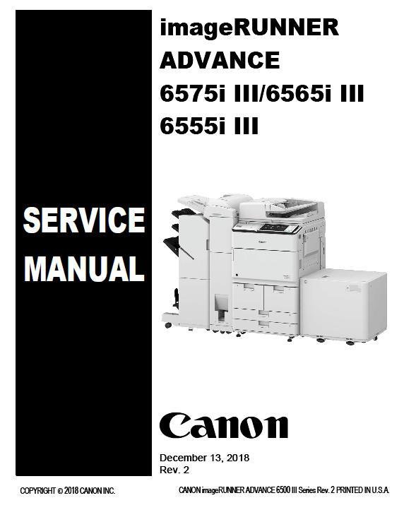 Canon imageRUNNER ADVANCE 6575i III/6565i III/6555i III Service Manual