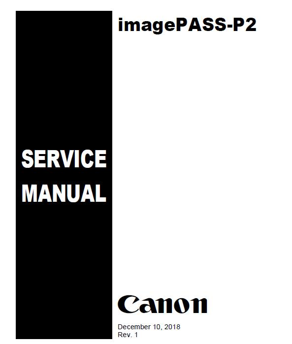 Canon imagePASS P2 Service Manual