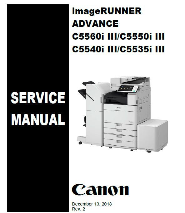 Canon imageRUNNER ADVANCE C5535i III/C5540i III/C5550i III/C5560i III Service Manual