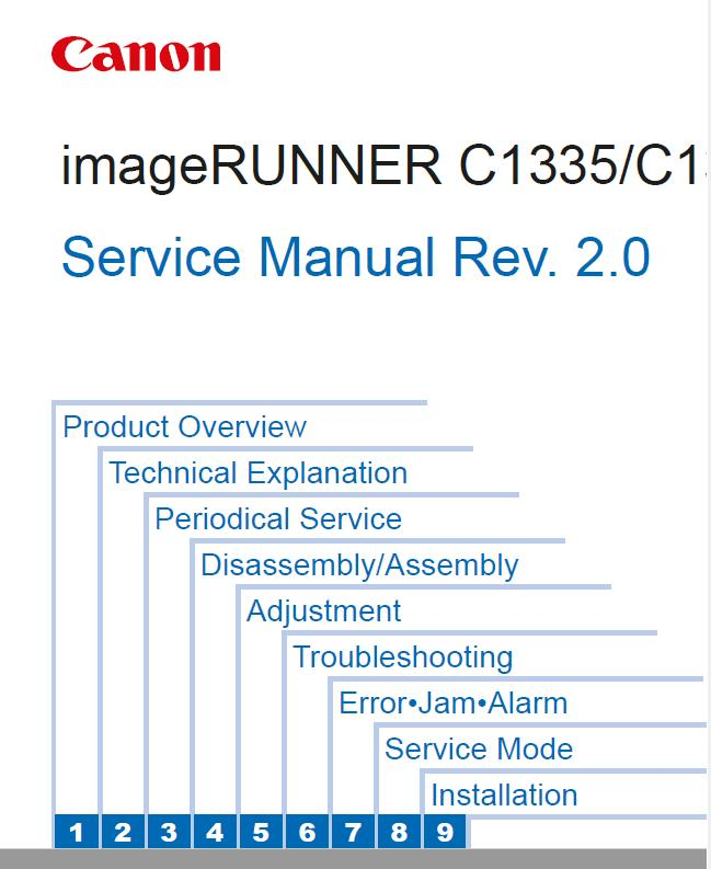 Canon imageRUNNER C1335/C1325 Series Service Manual