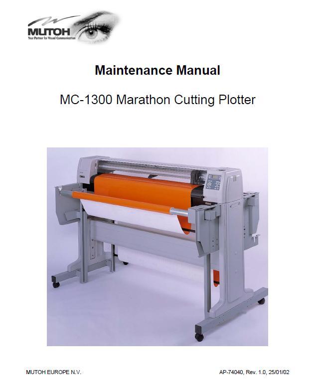 Mutoh MC-1300 Service Manual