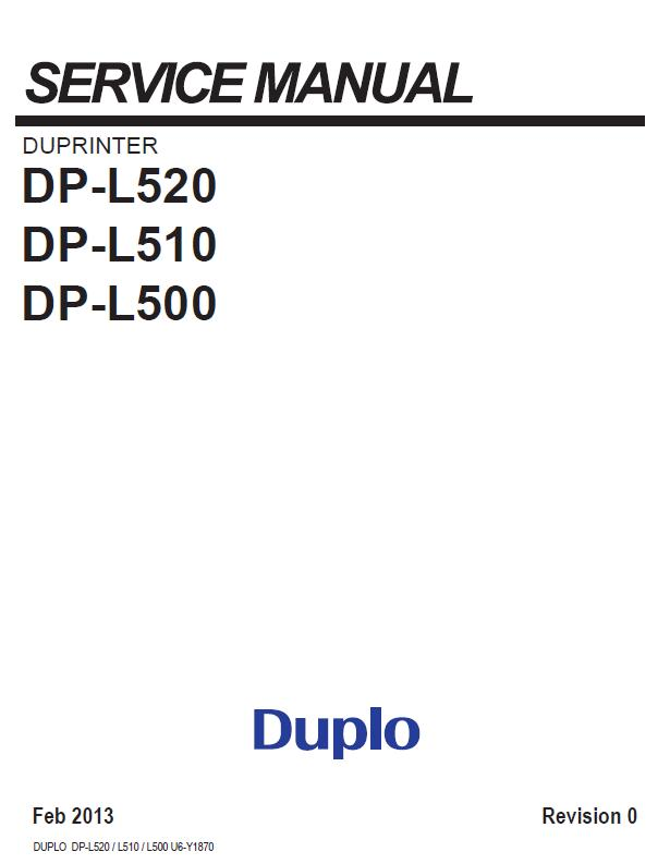 Duplo Duprinter DP-L500/DP-L510/DP-L520 Service Manual