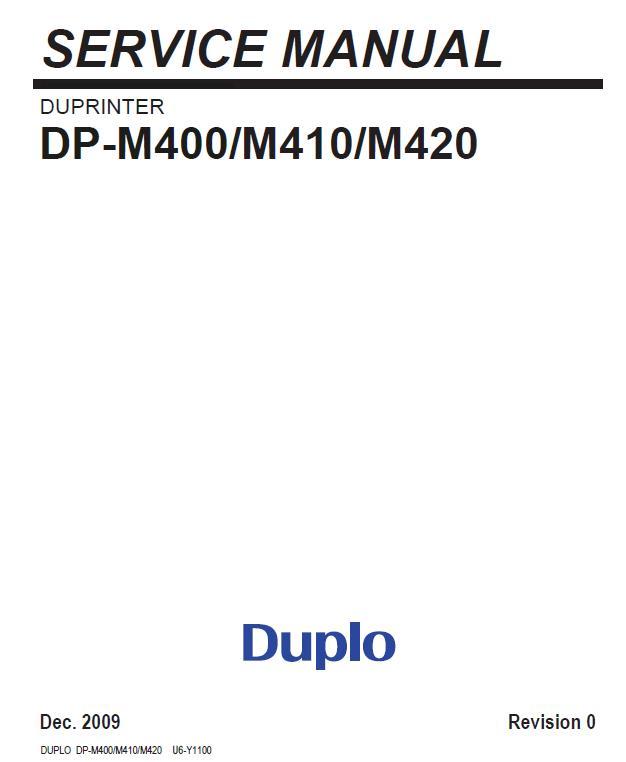 Duplo Duprinter DP-M400/M410/M420 Service Manual