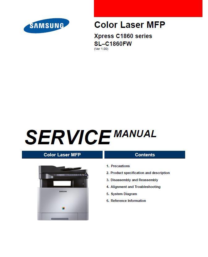 Samsung Xpress SL–C1860FW Service Manual