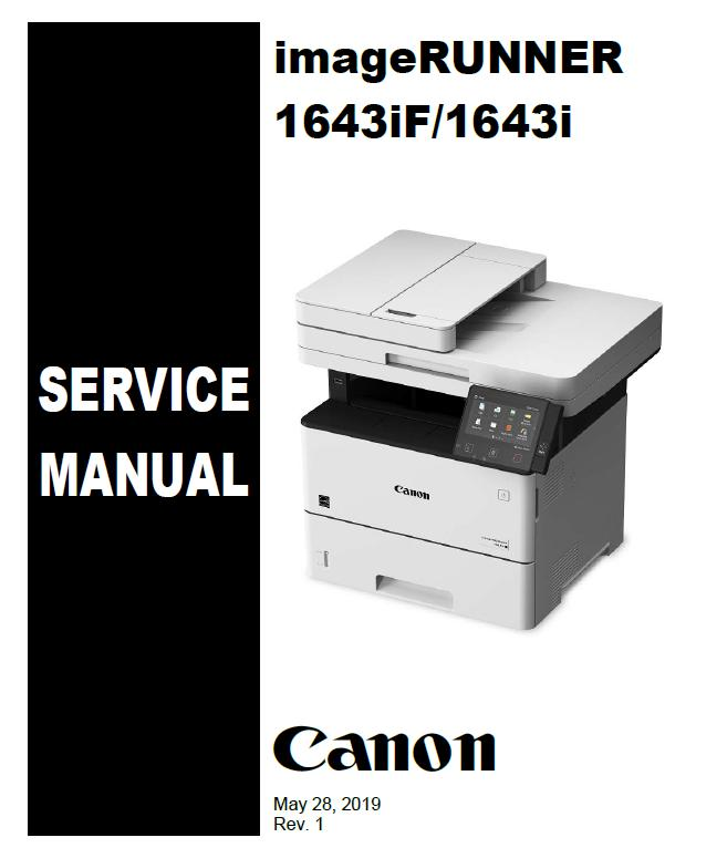 Canon imageRUNNER 1643iF/1643i Service Manual
