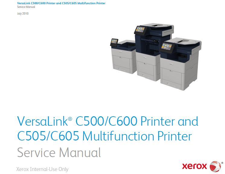 Xerox VersaLink C500/C505/C600/C605 Service Manual