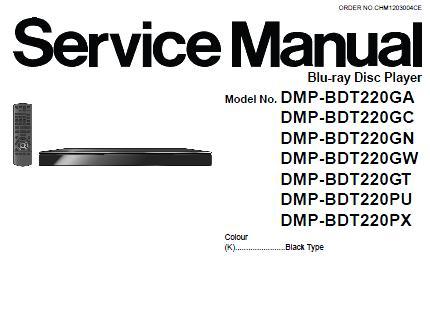 Panasonic DMP-BDT220 Service Manual