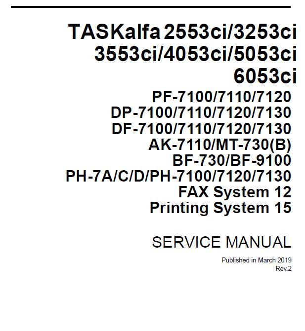 Kyocera TASKalfa 2553ci/3253ci/3553ci/4053ci/5053ci/6053ci Service Manual