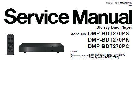 Panasonic DMP-BDT270PS/DMP-BDT270PK/DMP-BDT270PC/DMP-BDT280PC Service Manual