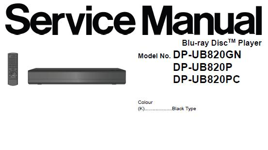 Panasonic DP-UB820GN/DP-UB820P/DP-UB820PC Service Manual