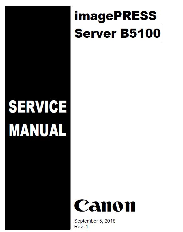 Canon imagePRESS Server B5100 Service Manual