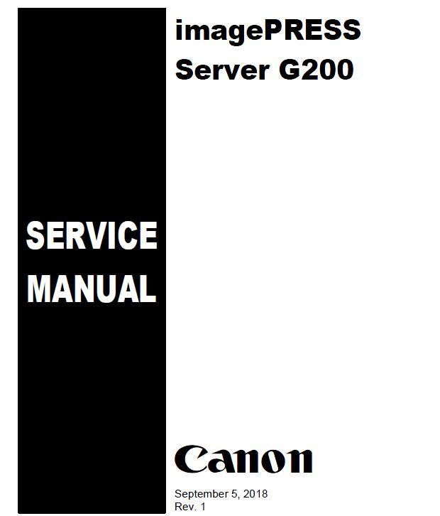 Canon imagePRESS Server G200 Service Manual